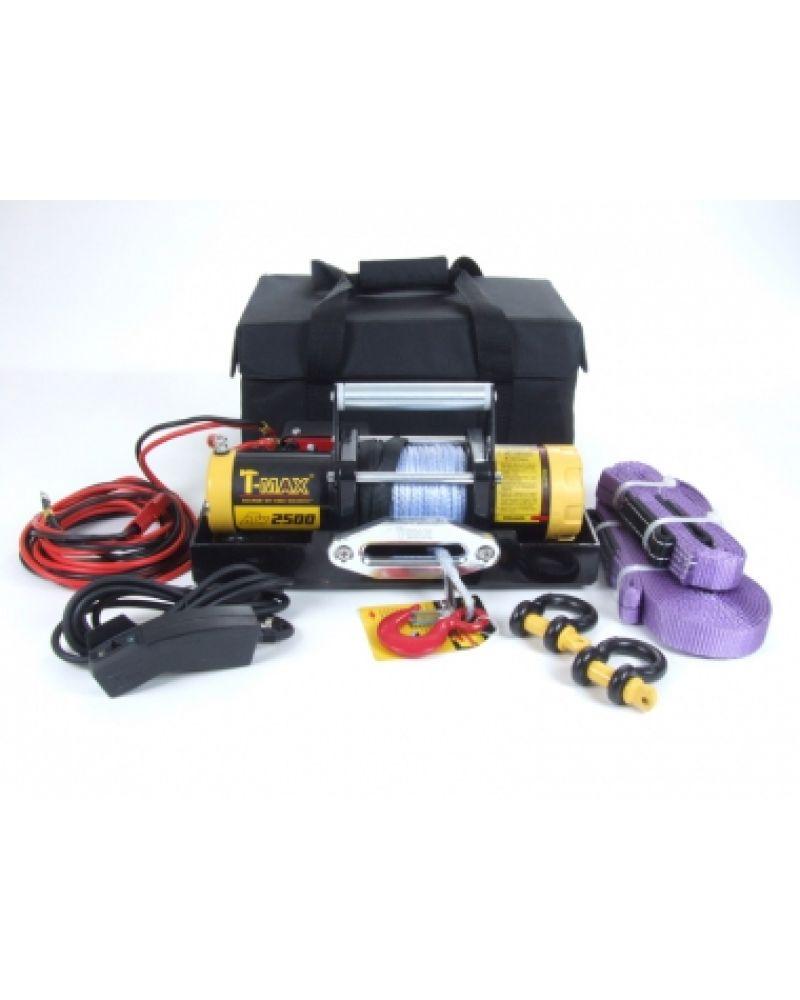 ATW PRO 2500 лебедка переносная электрическая с синтетическим тросом