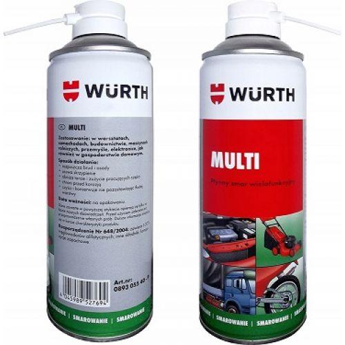 WURTH 0893.055.40 Универсальная спрей-смазка MULTI 5 в 1 Premium 400мл