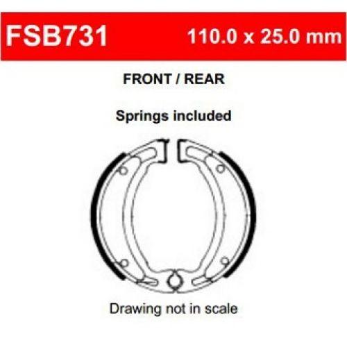 Тормозные колодки барабанные Ferodo FSB731