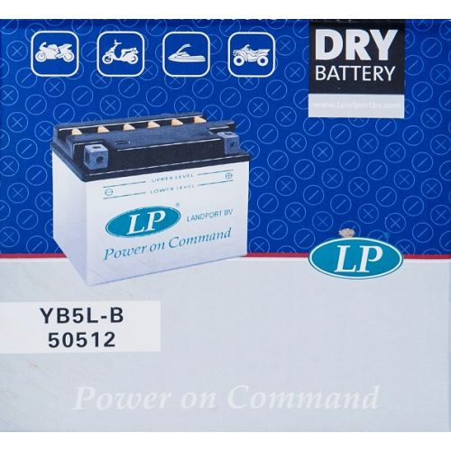 Аккумулятор сухозаряженый DRY YB5L-B