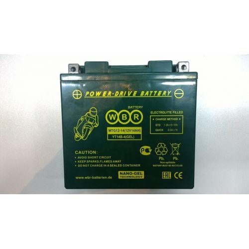 WBR Аккумулятор GEL MTG12-14 (YT14B-4)