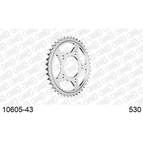10605-43 звезда задняя HONDA CB CBR CBX 1000, HONDA VF 1000 (ведомая) стальная, 530, AFAM (JTR1334.43)