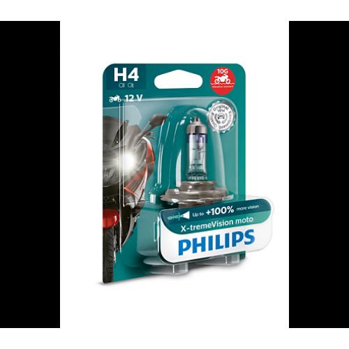 Галогеновая лампа Philips H4 X-tremeVision 60/55 Вт 12342XVS2