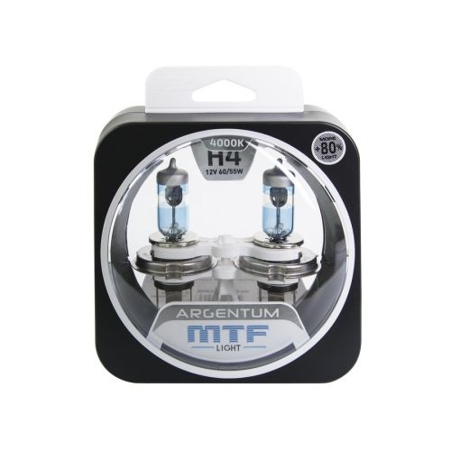 Галогеновые лампы MTF Argentum +80% H4 12V  60/55W