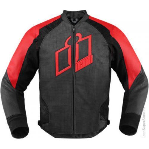 Кож.куртка Hypersport Jacket  черн.красн LG