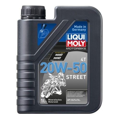 Минеральное моторное масло для 4-тактных мотоциклов Motorbike 4T Street 20W-50 1литр