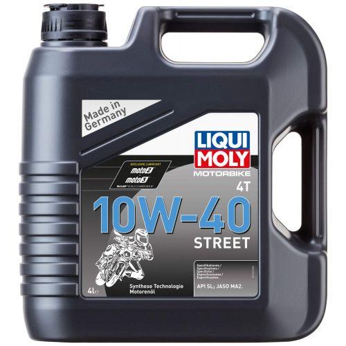 Моторное масло LIQUIMOLY для 4-тактных мотоциклов Motorbike 4T Street 10W-40(4л)