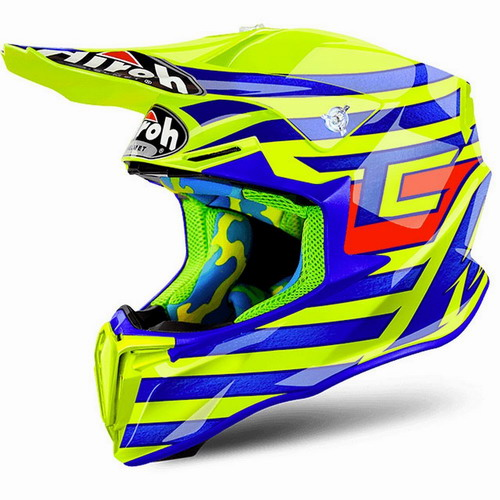 AIROH шлем кросс TWIST CAIROLI QATAR YELLOW GLOSS (M)