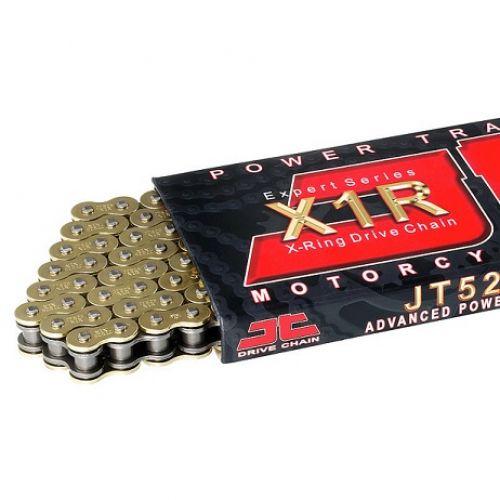 Цепь JT 525X1R GB, золото, 114 звеньев, уплотнение цепи - X-ring, от 125 до 900  525X1R-GB114