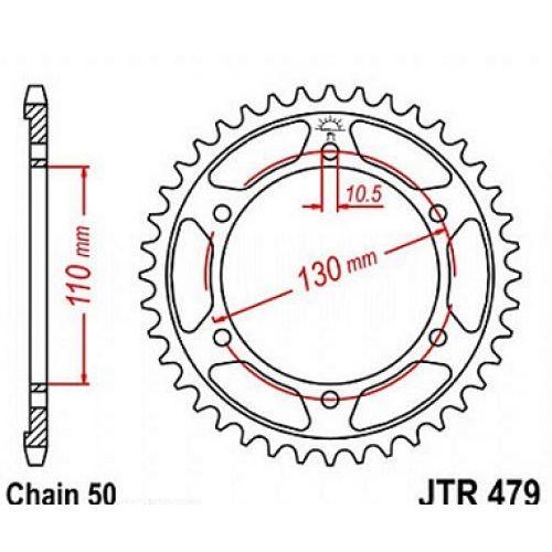 Звезда задняя (ведомая) JTR479.46 для мотоцикла стальная