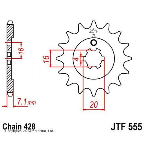 JT Звезда передняя (ведущая) JTF555