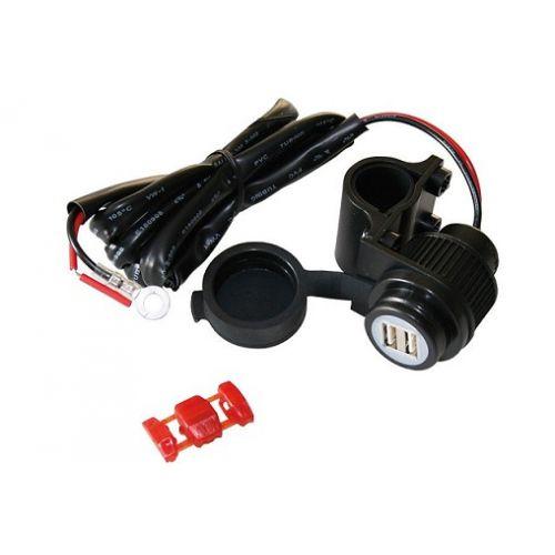 USB зарядка с креплением на руль
