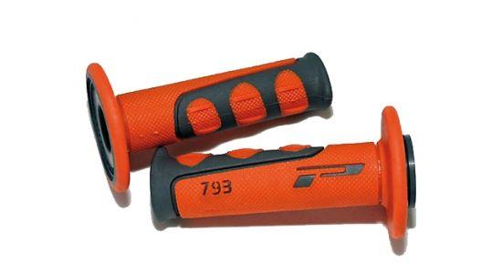 Ручки PROGRIP 793 cross оранжевые, 22мм закрытые