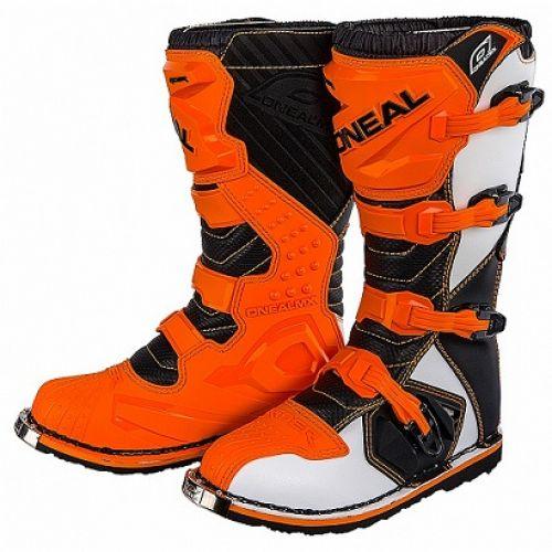 Мотоботы кроссовые Rider Boot оранжевые (43)