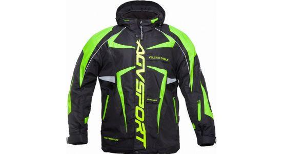 Снегоходная куртка ARCTIC II,черная/зеленая(L)