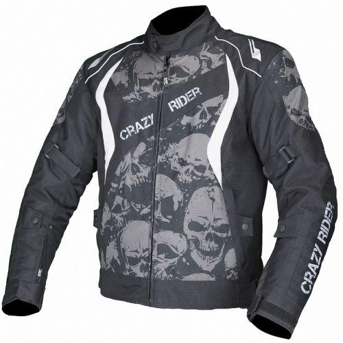 MOTEQ Текстильная куртка SKULL черн/антрацит (L)