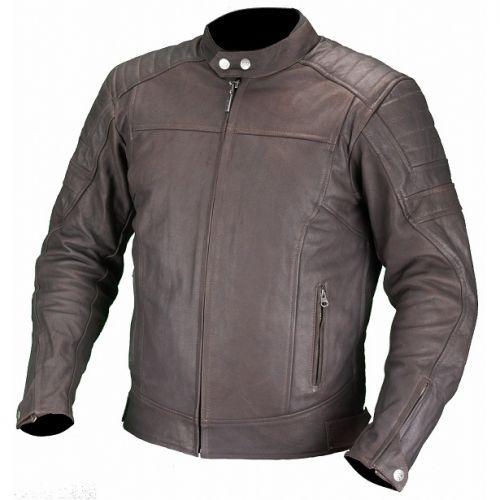 Куртка кожаная Bro Цвет коричневая,Размер 2XL