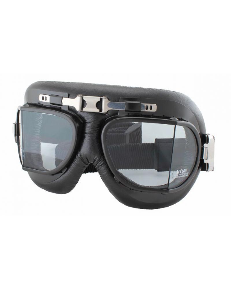 Очки для чоппера стилизованные под ретро с заломом стекла