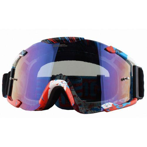 Кроссовая маска B2 RL Goggle SPRAY чёрная/радиум