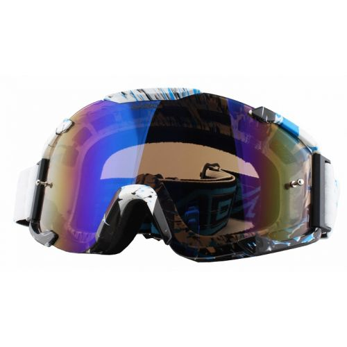Кроссовая маска B2 RL Goggle SPRAY белая/радиум