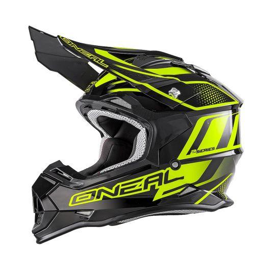 ONEAL Кроссовый шлем 2Series MANALISHI чёрно-желтый флуоресцентный (L)