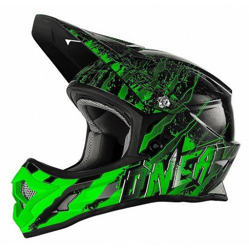 ONEAL Кроссовый шлем 3Series MERCURY чёрно-зеленый (M)
