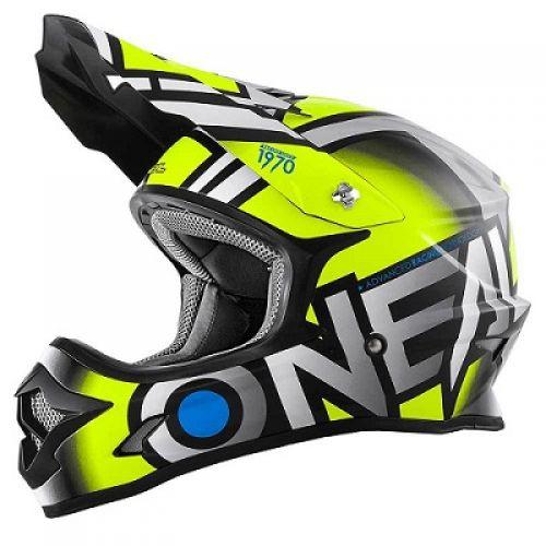 Кроссовый шлем 3Series RADIUM сер-неон (L)