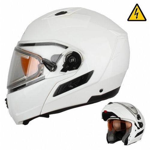 Снегоходный шлем модуляр с электростеклом MODE1 белый