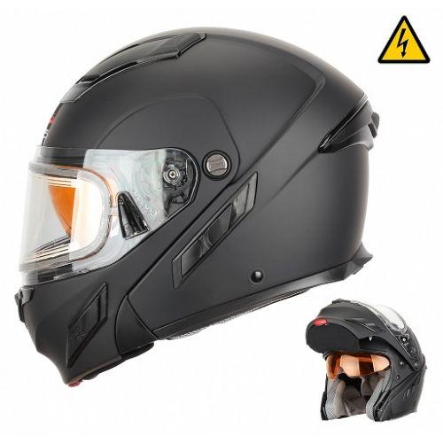 Снегоходный шлем модуляр с электростеклом MODE2 черный матовый (2XL)