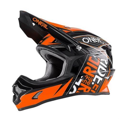 Кроссовый шлем 3Series FUEL чёрно-оранжевый(XL)