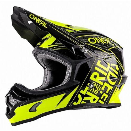 Кроссовый шлем 3Series FUEL чёрно-флуо-желтый(L)