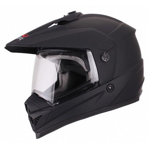 Шлем кроссовый со стеклом DSE1 черный матовый(S)