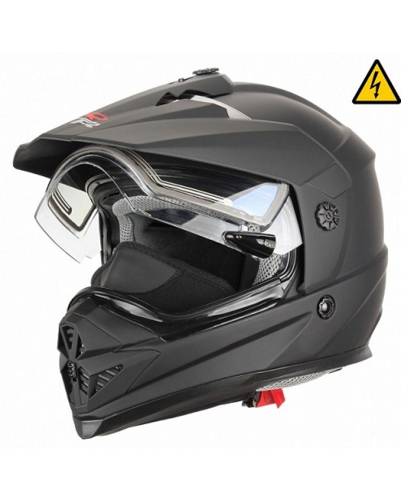 Снегоходный шлем с электростеклом DSE1 черный матовый