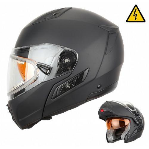 Снегоходный шлем модуляр с электростеклом MODE1 черный матовый (2XL)