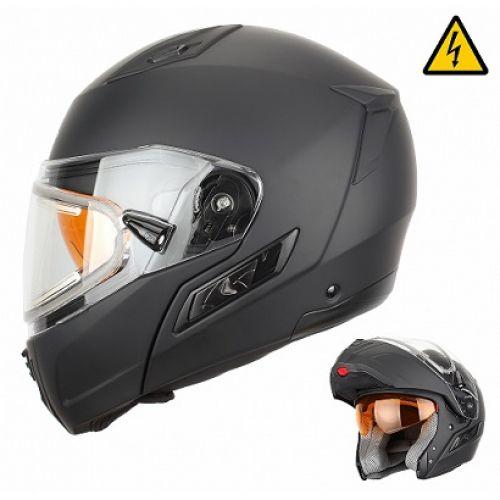 Снегоходный шлем модуляр с электростеклом MODE1 черный матовый (S)