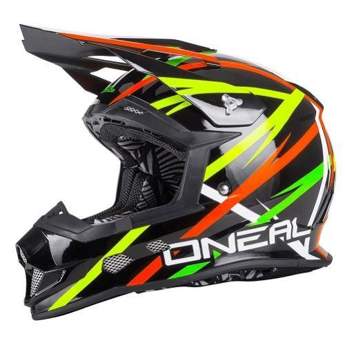 Кроссовый шлем 2Series THUNDERSTRUCK чёрный/цветной(M)