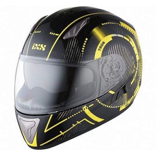 IXS Шлем интеграл HX 1000 Tron черно-желтый глянец(L)