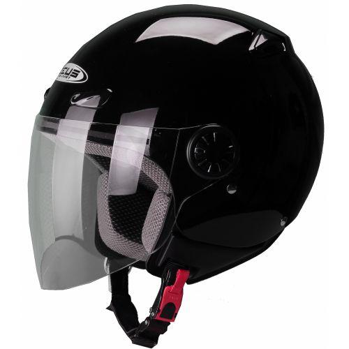 ZEUS Открытый шлем ZS-210B черный глянец (L)