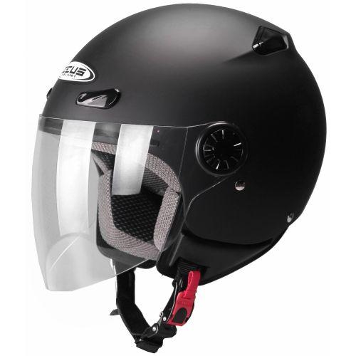 ZEUS Открытый шлем ZS-210B черный матовый (L)