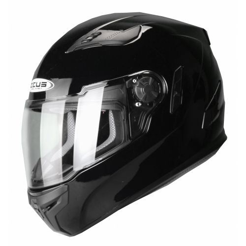 ZEUS Шлем интеграл ZS-813A черный глянец (L)