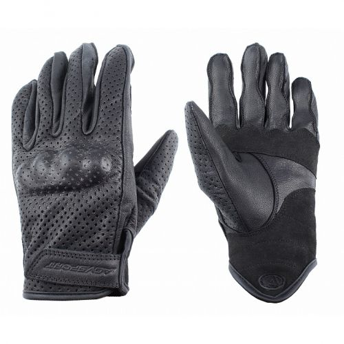 AGVSPORT Кожаные перчатки LadysClassic 1.5, черн,перфорация (XS)