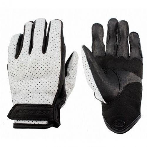Кожаные перчатки LadysClassic 1.5, Ч/Б,перфорация (M)