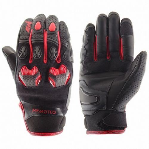 MOTEQ Кожаные перчатки Stinger красные(L)