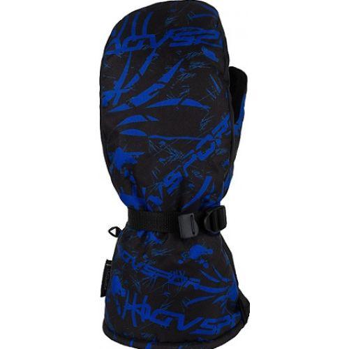 Снегоходные Варежки Tundra, черный/синий(XL)