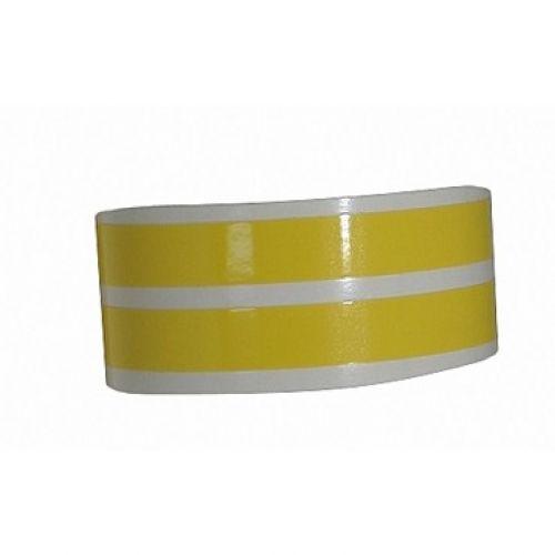 Наклейка на колесный диск желтая
