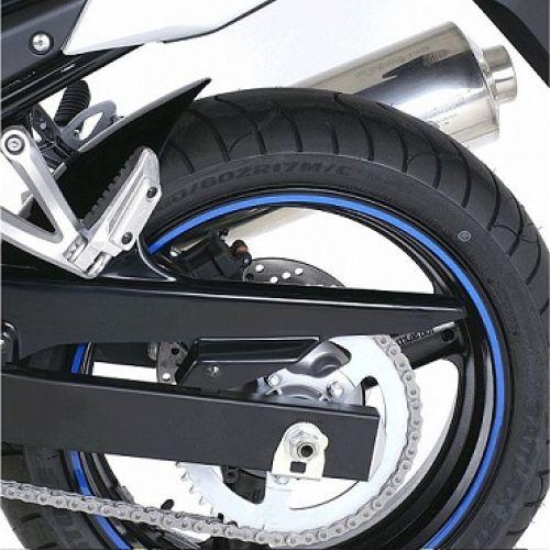 Наклейка на диск светоотражающая синяя
