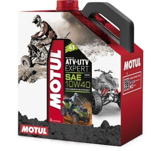 MOTUL ATV-UTV Expert 4T 10W40, 4л + очиститель M4 Hands Clean, 0.1л