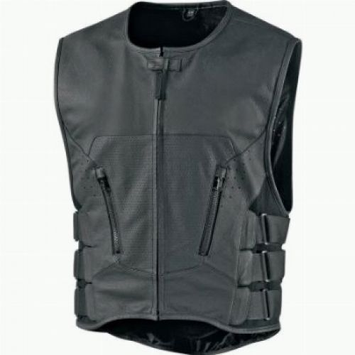 Жилет кож.Regulator Stripped Vest черн. S/M