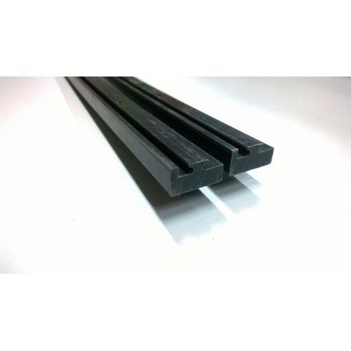 Склизы, POLARIS 145 см, Черный цвет, профиль 15 (OEM 5521452)
