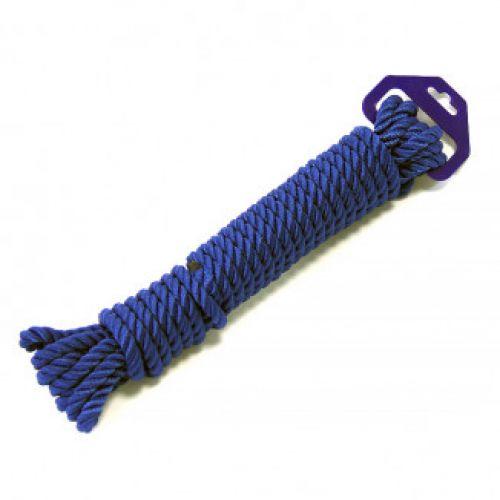 Трос швартовый трех прядный 10мм*9м темно-синий
